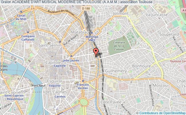 plan association Academie D'art Musical Moderne De Toulouse (a.a.m.m.)