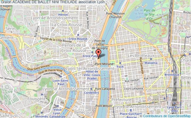 plan association Academie De Ballet Nini Theilade