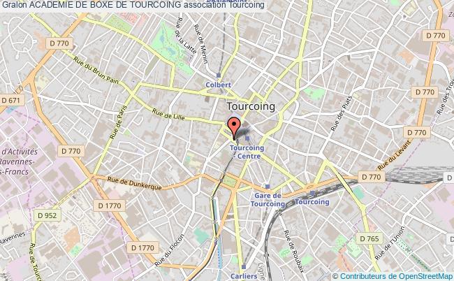 plan association Academie De Boxe De Tourcoing
