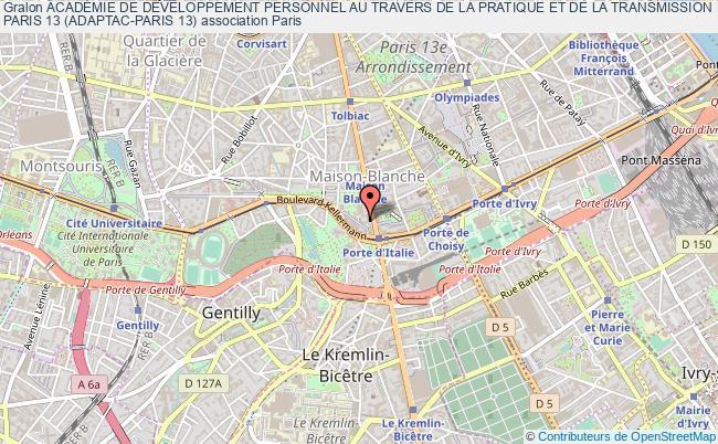 plan association AcadÉmie De DÉveloppement Personnel Au Travers De La Pratique Et De La Transmission Des Arts De Combats - Paris 13 (adaptac-paris 13)