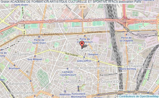 plan association Academie De Formation Artistique Culturelle Et Sportive Afacs