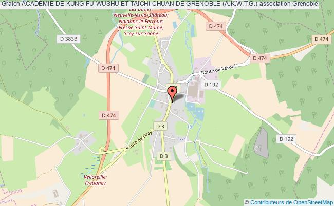 plan association Academie De Kung Fu Wushu Et Taichi Chuan De Grenoble (a.k.w.t.g.) Grenoble