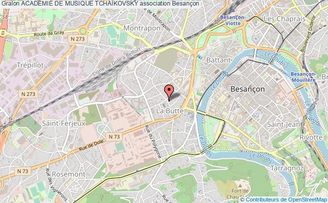 plan association Academie De Musique TchaÏkovsky Besançon