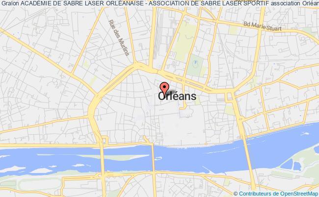 plan association AcadÉmie De Sabre Laser OrlÉanaise - Association De Sabre Laser Sportif