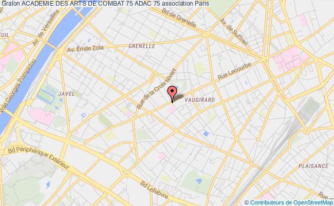 plan association Academie Des Arts De Combat 75 Adac 75
