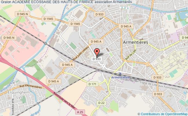 plan association Academie Ecossaise Des Hauts De France Armentières