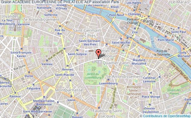 plan association Academie Europeenne De Philatelie Aep Paris