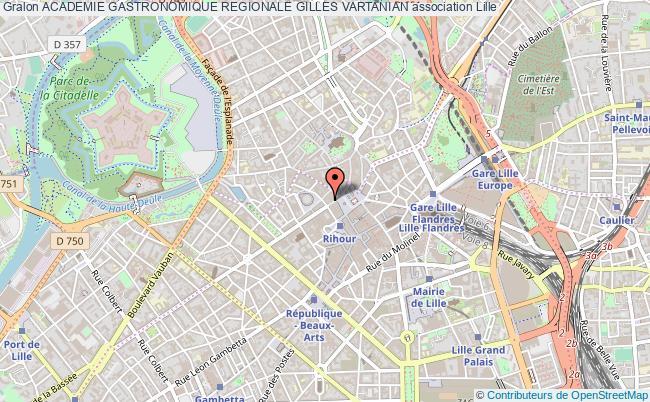 plan association Academie Gastronomique Regionale Gilles Vartanian Lille