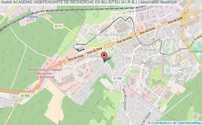 plan association Academie Independante De Recherche En Bu-jutsu (a.i.r.b.j.) Besançon