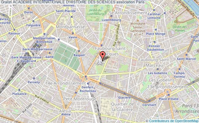 plan association Academie Internationale D'histoire Des Sciences