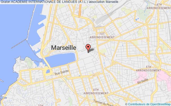 plan association Academie Internationale De Langues (a.i.l.) Marseille