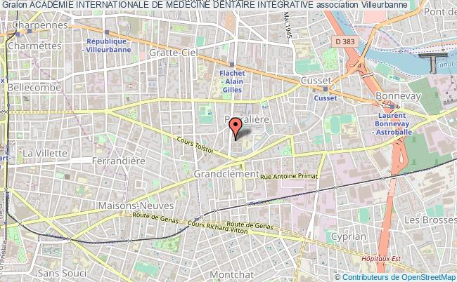 plan association AcadÉmie Internationale De MÉdecine Dentaire IntÉgrative