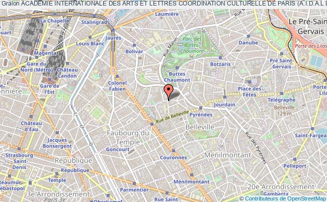 plan association Academie Internationale Des Arts Et Lettres Coordination Culturelle De Paris (a.i.d.a.l L'academie-paris)