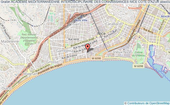 plan association Academie Mediterraneenne Interdisciplinaire Des Connaissances Nice Cote D'azur