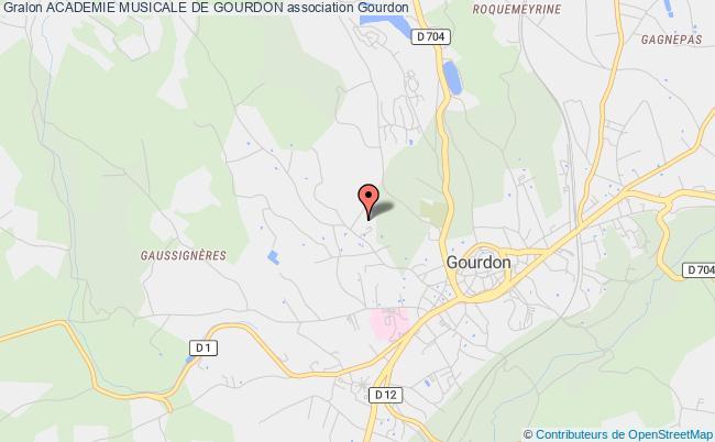 plan association Academie Musicale De Gourdon