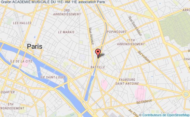 plan association Academie Musicale Du 11e- Am 11e