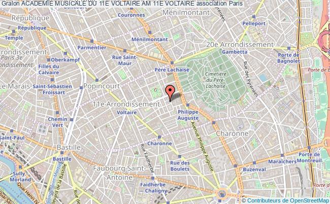 plan association Academie Musicale Du 11e Voltaire Am 11e Voltaire