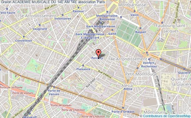 plan association Academie Musicale Du 14e Am 14e