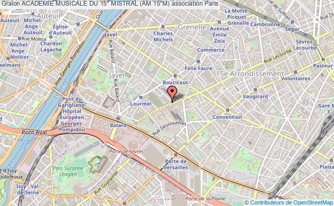 plan association Academie Musicale Du 15° Mistral (am 15°m)