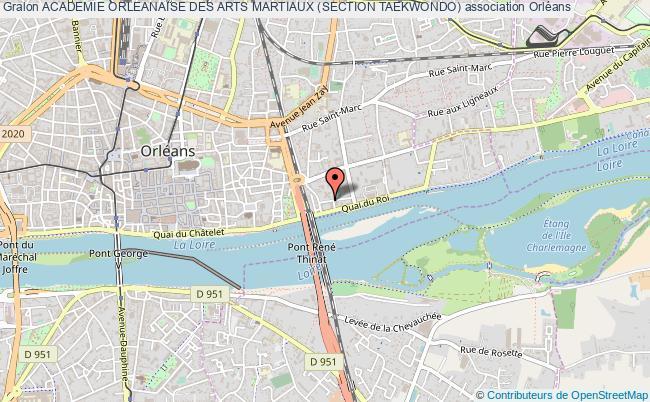 plan association Academie Orleanaise Des Arts Martiaux (section Taekwondo)