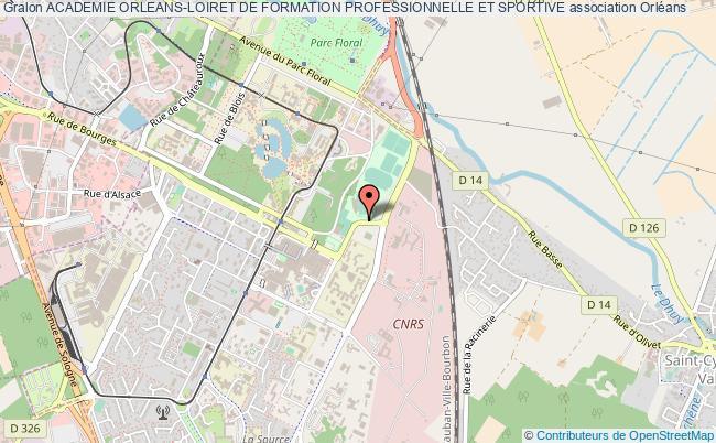 plan association Academie Orleans-loiret De Formation Professionnelle Et Sportive