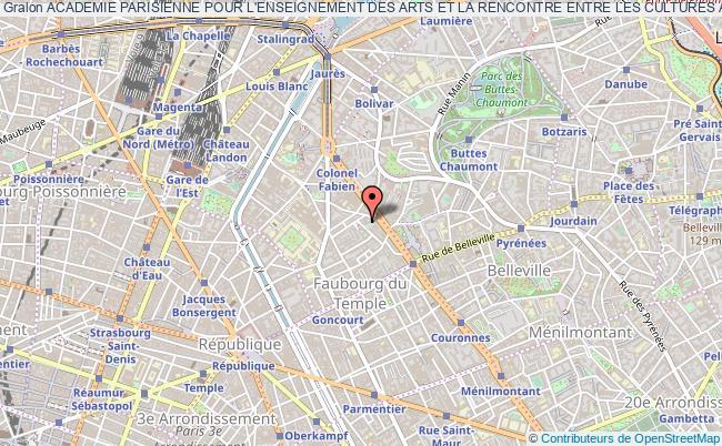 plan association Academie Parisienne Pour L'enseignement Des Arts Et La Rencontre Entre Les Cultures Atlantis Arts Paris