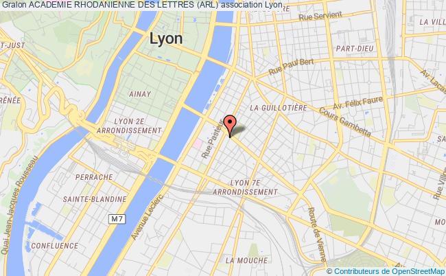 plan association Academie Rhodanienne Des Lettres (arl)