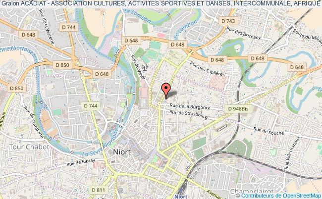 plan association Acadiat - Association Cultures, Activites Sportives Et Danses, Intercommunale, Afrique Et Tropiques