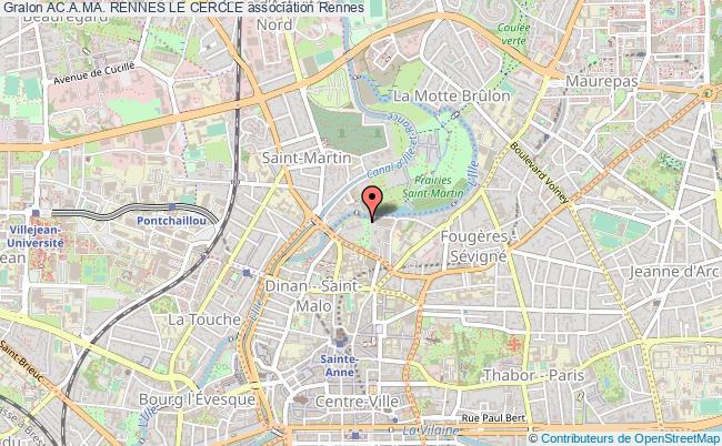 plan association Ac.a.ma. Rennes Le Cercle Rennes