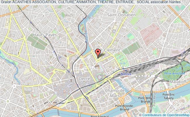 plan association Acanthes Association, Culture, Animation, Theatre, Entraide,  Social