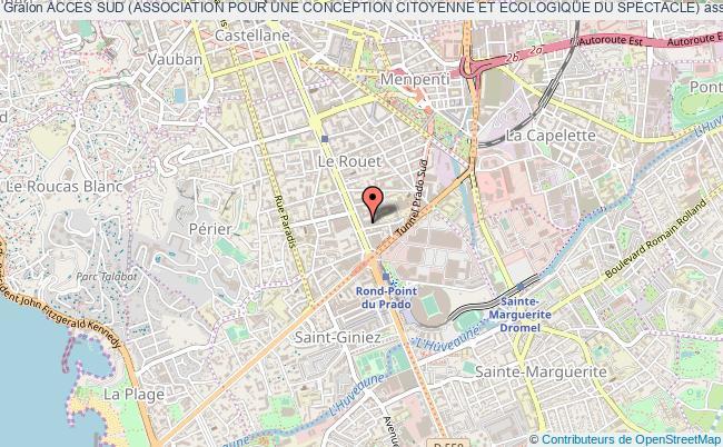plan association Acces Sud (association Pour Une Conception Citoyenne Et Ecologique Du Spectacle)