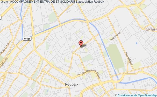 plan association Accompagnement Entraide Et Solidarite Roubaix