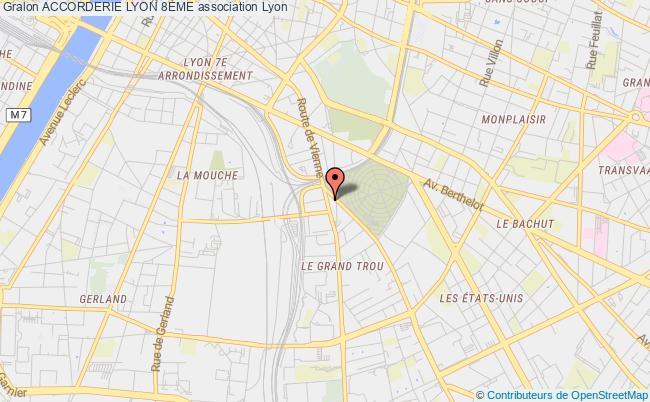 plan association Accorderie Lyon 8Ème