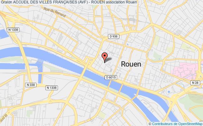 plan association Accueil Des Villes FranÇaises (avf) - Rouen