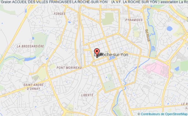 plan association Accueil Des Villes Francaises La Roche-sur-yon    (a.v.f. La Roche Sur Yon ) La    Roche-sur-Yon