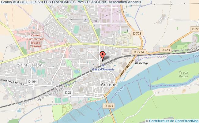 plan association Accueil Des Villes Francaises Pays D' Ancenis