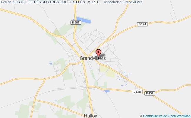plan association Accueil Et Rencontres Culturelles - A. R. C. -