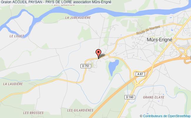 plan association Accueil Paysan - Pays De Loire Mûrs-Erigné