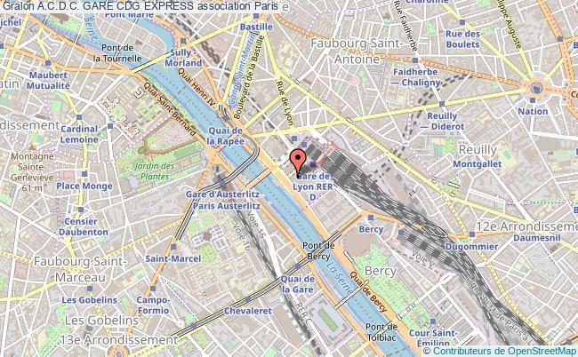 plan association A.c.d.c. Gare Cdg Express