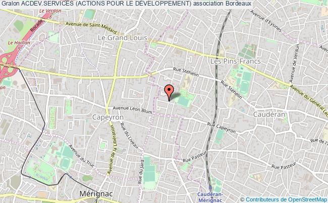 plan association Acdev.services (actions Pour Le DÉveloppement) Bordeaux