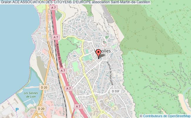 plan association Ace Association Des Citoyens D'europe Saint-Martin-de-Castillon