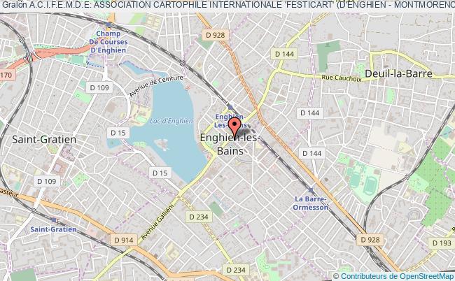 plan association A.c.i.f.e.m.d.e: Association Cartophile Internationale 'festicart' (d'enghien - Montmorency- Deuil Et Environs)