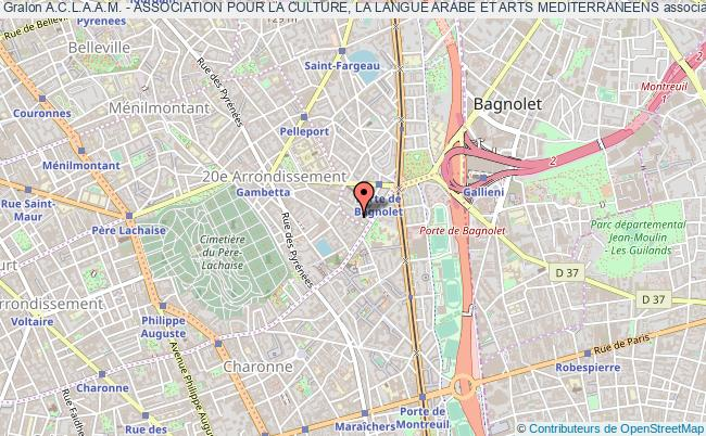 plan association A.c.l.a.a.m. - Association Pour La Culture, La Langue Arabe Et Arts Mediterraneens Paris
