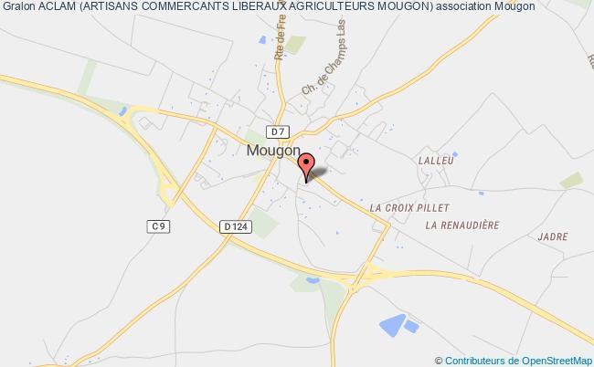 plan association Aclam (artisans Commercants Liberaux Agriculteurs Mougon)
