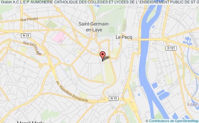 plan association A.c.l.e.p. Aumonerie Catholique Des Colleges Et Lycees De L' Enseignement Public De St Germain En Laye Saint-Germain-en-Laye
