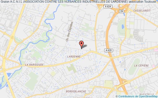 plan association A.c.n.i.l (association Contre Les Nuisances Industrielles De Lardenne)