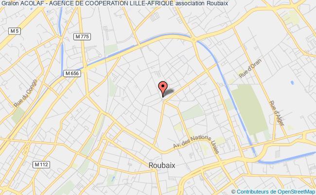 plan association Acolaf - Agence De Cooperation Lille-afrique Roubaix