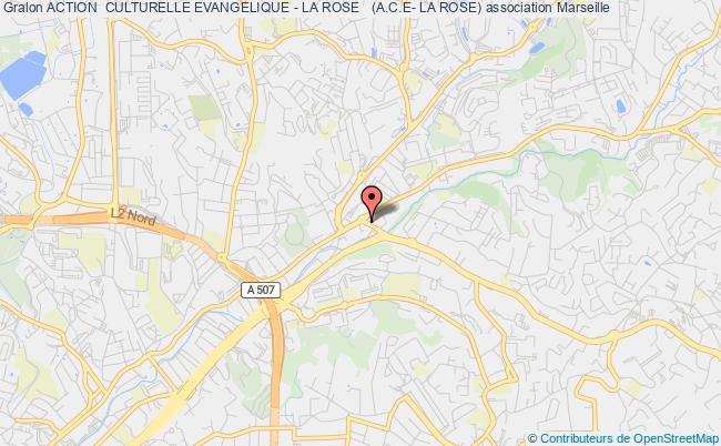plan association Action  Culturelle Evangelique - La Rose   (a.c.e- La Rose) Marseille