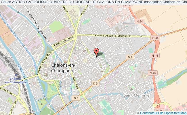 plan association Action Catholique OuvriÈre Du DiocÈse De ChÂlons-en-champagne