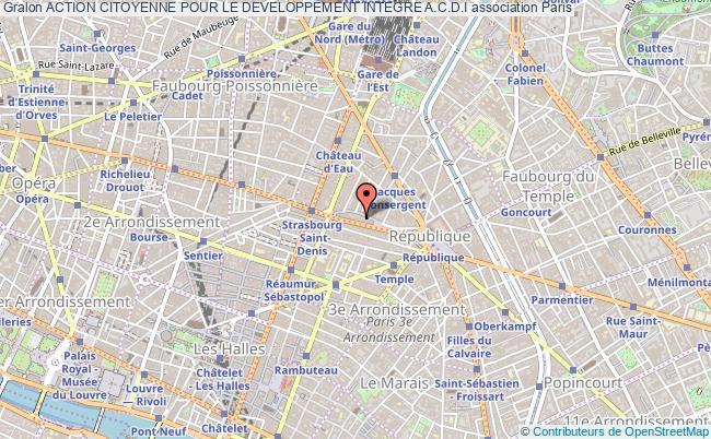 plan association Action Citoyenne Pour Le Developpement Integre A.c.d.i
